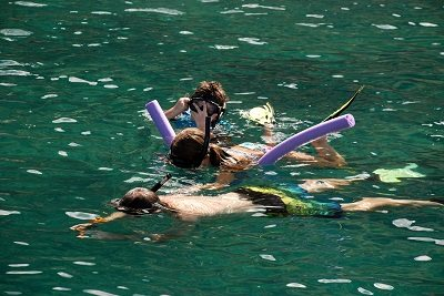 Use caution when snorkeling